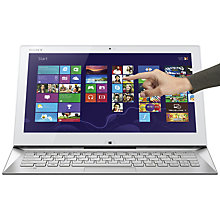 "Buy Sony Vaio Duo SVD1322X2EW Convertible Ultrabook, Intel Core i5, 8GB RAM, 128GB SSD, 13.3"" Touch Screen, White Online at johnlewis.com"