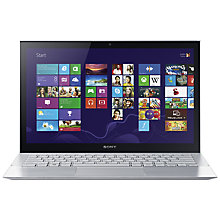 "Buy Sony Vaio Pro 13 Ultrabook, Intel Core i5, 8GB RAM, 128GB SSD, 13.3"" Touch Screen, Silver Online at johnlewis.com"