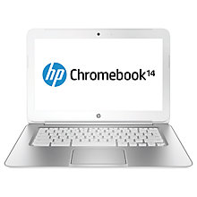 "Buy HP Pavilion 14-q013sa Chromebook, Intel Celeron, 4GB RAM, 16GB SSD, Wi-Fi & 3G, 14"", White Online at johnlewis.com"