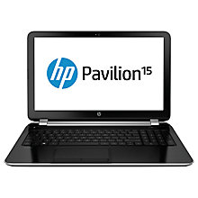 "Buy HP Pavilion 15-n235sa Laptop, Intel Core i5, 8GB RAM, 1TB, 15.6"", Black & Silver + Microsoft Office 365 Online at johnlewis.com"