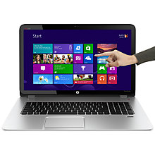 "Buy HP Envy TouchSmart 17-j103ea Laptop, Intel Core i7, 8GB RAM, 1TB, 17.3"" Touch Screen, Silver Online at johnlewis.com"