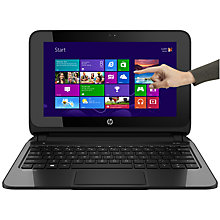 "Buy HP Pavilion TouchSmart 10-e010sa Laptop, AMD A4, 2GB RAM, 500GB, 10.1"" Touch Screen, Black & Silver Online at johnlewis.com"