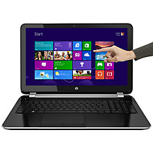 "Buy HP Pavilion TouchSmart 15-n207sa Laptop, Intel Pentium, 4GB RAM, 750GB, 15.6"" Touch Screen, Black & Silver Online at johnlewis.com"