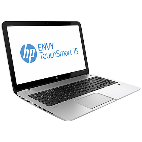 "Buy HP Envy TouchSmart 15-j113ea Laptop, Intel Core i7, 12GB RAM, 1.5TB, 15.6"" Touch Screen, Silver Online at johnlewis.com"