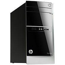 Buy HP Pavilion 500-210ea Desktop PC, Intel Core i3, 8GB RAM, 2TB, Black + Norton 360 Online at johnlewis.com