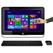 "Buy HP Pavilion TouchSmart 22-h010ea All-in-One Desktop PC, AMD A4, 4GB RAM, 1TB, 21.5"" Touch Screen, Bl + Norton 360 Online at johnlewis.com"