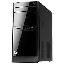 Buy HP 110-213EA Desktop PC, Intel Pentium, 8GB RAM, 1TB, Black + Microsoft Office 365 Personal Online at johnlewis.com