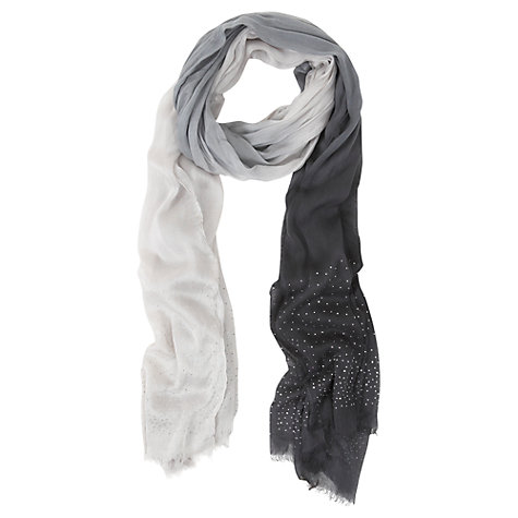 Buy Mint Velvet Ombre Scarf, Black / Grey Online at johnlewis.com