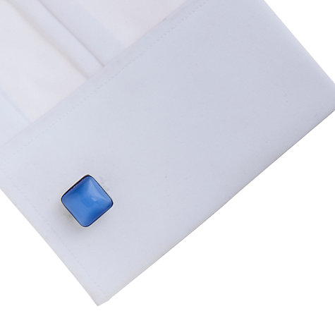 Buy Simon Carter Square Catseye Cufflinks, Blue/Silver Online at johnlewis.com