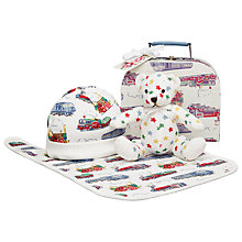 Buy Cath Kidston Baby Train Print Gift Set, Set of 4, Cream/Multi Online at johnlewis.com