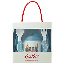 Buy Cath Kidston Tiny Trains Nursery Set, Blue Online at johnlewis.com
