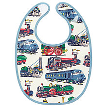 Buy Cath Kidston Baby Trains Bib, White/Multi Online at johnlewis.com