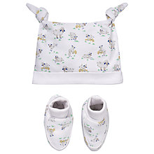 Buy Cath Kidston Baby Lamb Hat & Booties Set, White Online at johnlewis.com