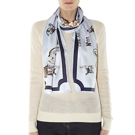 Buy NW3 by Hobbs Carnival Scarf, Ice Blue Online at johnlewis.com