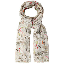 Buy White Stuff Allotment Bird Scarf, Neutral Online at johnlewis.com