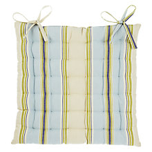 Buy John Lewis Botanist Stripe Seat Pad, Blue Online at johnlewis.com