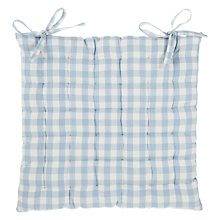 Buy John Lewis Gingham Check Seat Pad Online at johnlewis.com