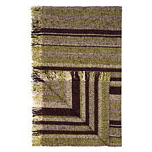 Buy John Lewis Roma Chenille Stripe Throw, Catkin / Cassis Online at johnlewis.com