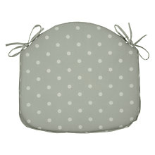 Buy John Lewis Dotty Seat Pad, Grey Online at johnlewis.com