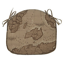Buy John Lewis Maps Seat Pad, Sepia Online at johnlewis.com