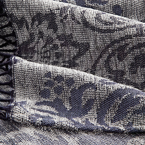 Buy John Lewis Lancaster Throw, Navy Online at johnlewis.com