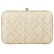 Buy John Lewis Straw Oversized Boxed Clutch Bag Online at johnlewis.com
