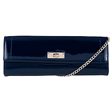 Buy John Lewis Patent Clutch Bag, Navy Online at johnlewis.com