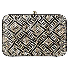 Buy Collection WEEKEND by John Lewis Straw Oversized Boxed Clutch Bag Online at johnlewis.com
