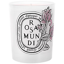 Buy Diptyque Rosa Mundi Candle, 190g Online at johnlewis.com
