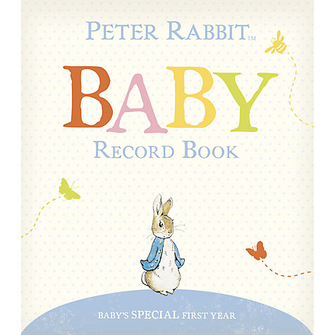 Buy Peter Rabbit Baby's First Year Record Book 2014 Online at johnlewis.com