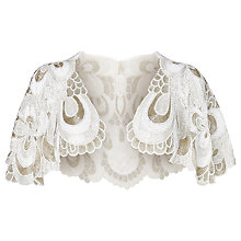 Buy Phase Eight Beatrice Embellished Cape, Ivory Online at johnlewis.com