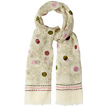 Buy White Stuff Spot and Floral Scarf, Natural Online at johnlewis.com