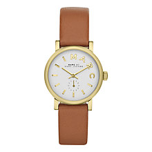 Buy Marc by Marc Jacobs MBM1317 Women's Leather Strap Watch, Tan Online at johnlewis.com