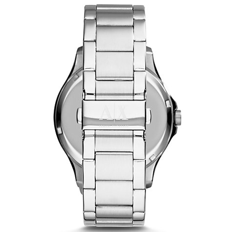 Buy Armani Exchange AX2132 Men's Stainless Steel Bracelet Strap Watch, Silver/Blue Online at johnlewis.com