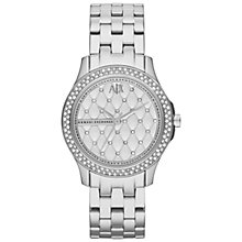 Buy Armani Exchange Women's Glitz Quilt-Effect Round Dial Bracelet Strap Watch Online at johnlewis.com