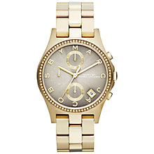 Buy Marc by Marc Jacobs MBM3298, Women's Chronograph, Bracelet Strap Watch, Gold Online at johnlewis.com