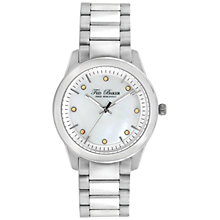 Buy Ted Baker TE4086 Women's Crystal Set Round Dial Bracelet Strap Watch, Mother of Pearl Online at johnlewis.com