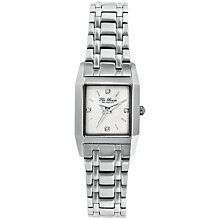 Buy Ted Baker TE4078 Women's Rectagle Crystal Set Dial Bracelet Strap Watch, Silver Online at johnlewis.com