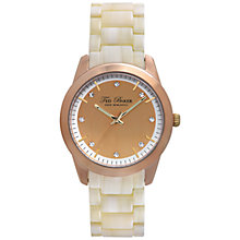 Buy Ted Baker TE4082 Women's Horn Crystal Set Bracelet Strap, Cream Online at johnlewis.com