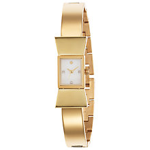 Buy kate spade new york 1YRU0070 Women's Carlyle Bracelet Strap Rectangular Watch, Gold Online at johnlewis.com