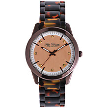 Buy Ted Baker TE4081 Women's Diamante Detail Round Dial Tortoise Shell Bracelet Strap Watch, Brown Online at johnlewis.com