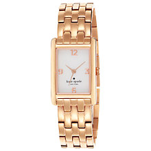 Buy kate spade new york 1YRU0037 Women's Cooper Bracelet Strap Rectangular Watch, Rose Gold Online at johnlewis.com