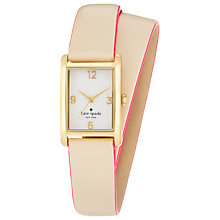 Buy kate spade new york 1YRU0208 Women's Cooper Wrap Strap Rectangular Watch, Nude Online at johnlewis.com