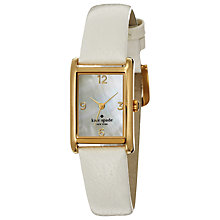Buy kate spade new york Women's Cooper Leather Strap Rectangular Watch Online at johnlewis.com