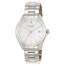 Buy kate spade new york 1YRU0029 Women's Seaport Grand Bracelet Strap Watch, Silver Online at johnlewis.com