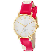 Buy kate spade new york 1YRU0224 Women's Metro Dot Leather Strap Watch, Pink Online at johnlewis.com