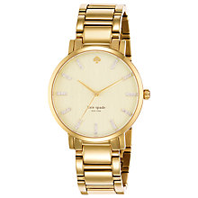 Buy kate spade new york 1YRU0096 Women's Gramercy Grand Crystal Dial Watch, Gold Online at johnlewis.com
