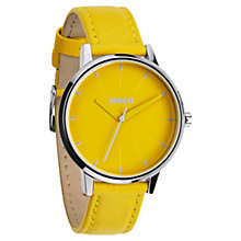 Buy Nixon Women's The Kensington Leather Strap Watch Online at johnlewis.com