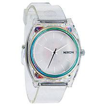 Buy Nixon Unisex The Time Teller Polycarbonate Translucent Strap Watch Online at johnlewis.com