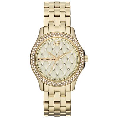 Armani Exchange AX5216 Women's Bracelet Strap Watch, Gold